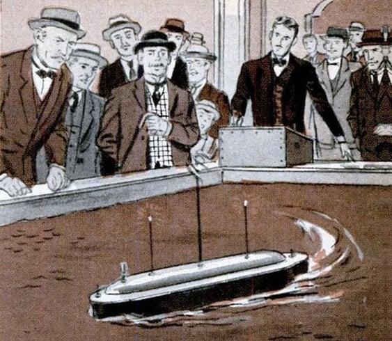 Tesla robot boat