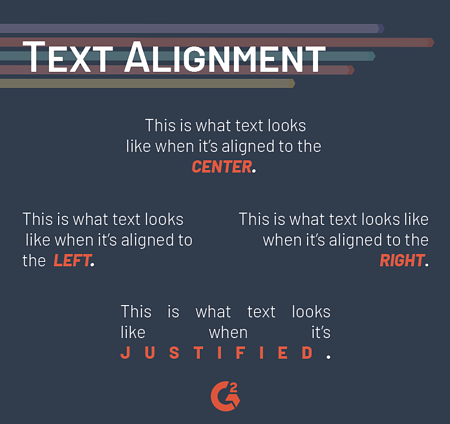 text alignment