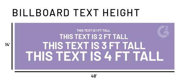 text size on billboard design