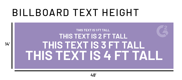 text size on billboard design