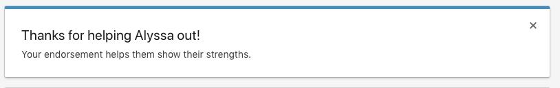 Thanks for Endorsing Skill on LinkedIn