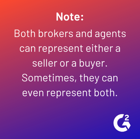 note about real estate brokers and agents