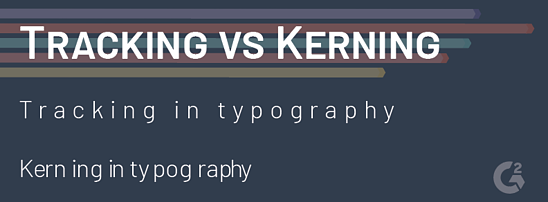 tracking vs kerning