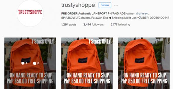 trusty shoppe IG