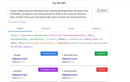 try the google API