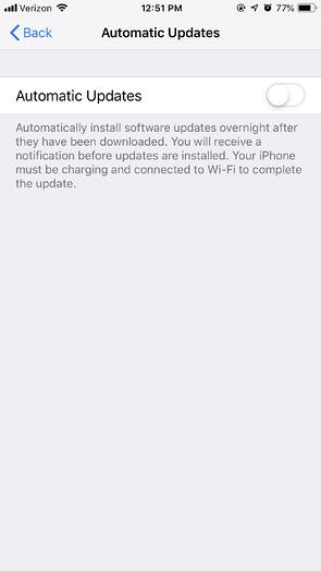 Automatic Apple Software Updates