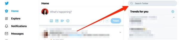 Twitter Search Bar on Desktop