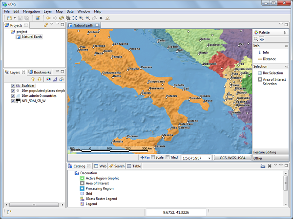 uDig Mapping tools