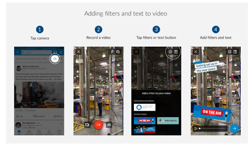 Adding Filters to LinkedIn Video