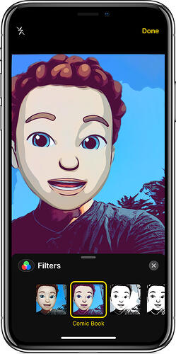 use Memoji in camera