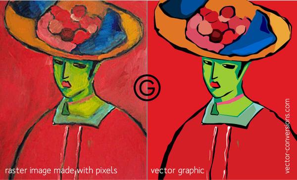 Raster vs vector image quality comparison
