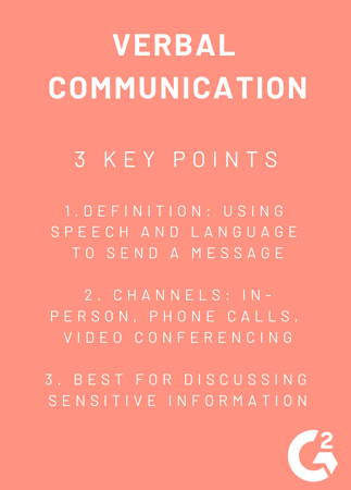 key points for verbal communication