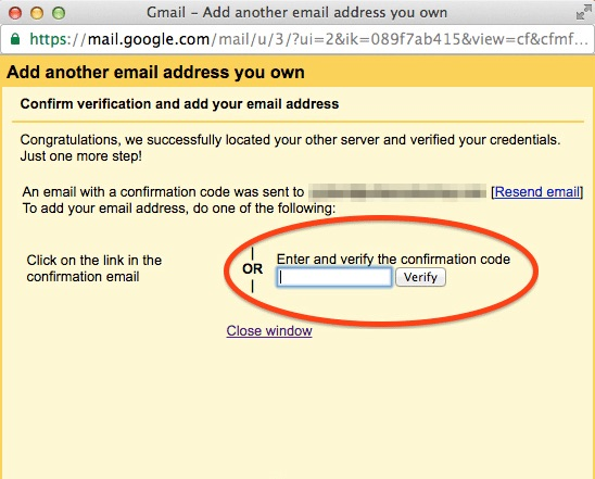 verifying gmail email