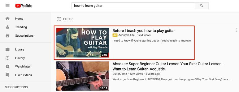 video discovery youtube ads