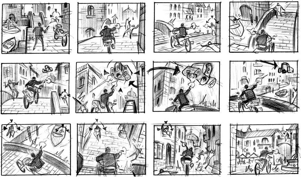 Example of a video game storyboard