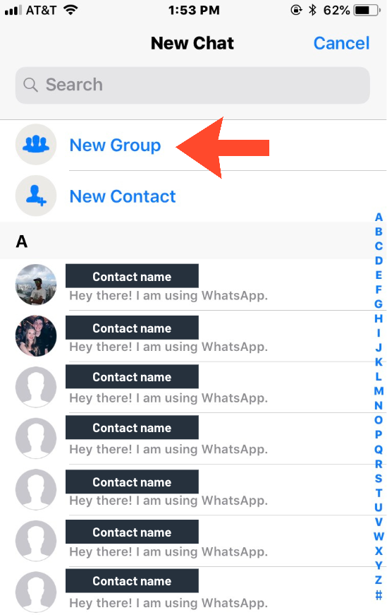 creating a group in whatsapp
