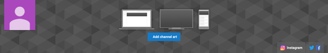 youtube channel art social links