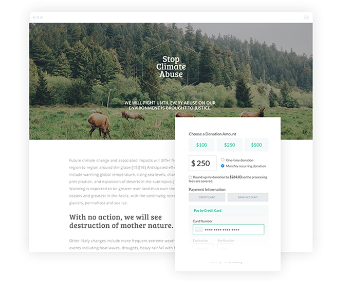 climate landing page