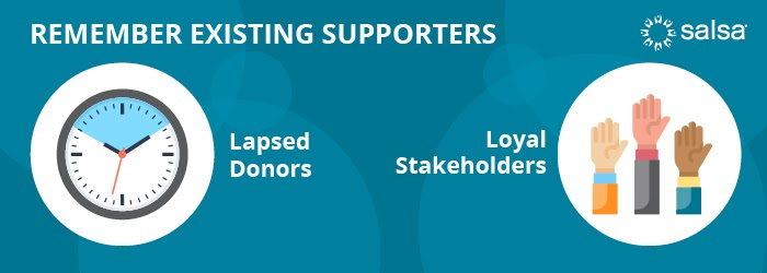 remember existing supporters