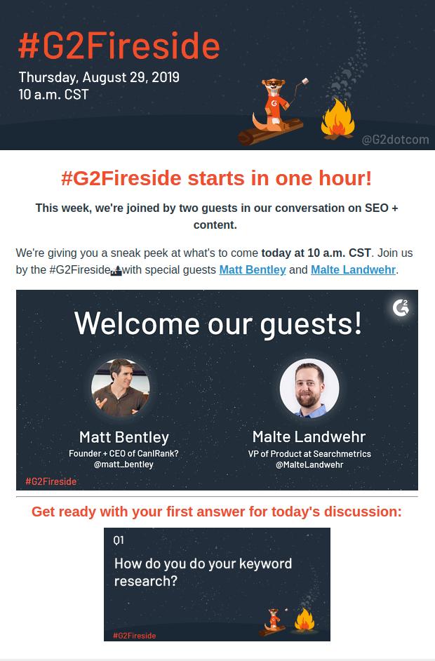 G2 Fireside Newsletter