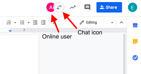 How to chat on Google Docs