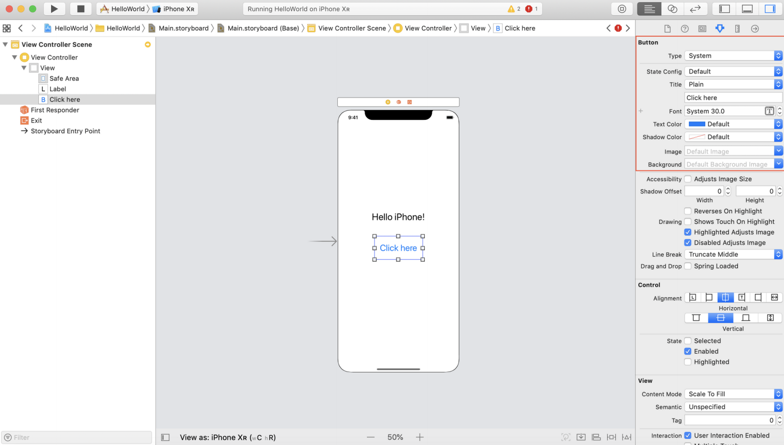 Add button in Swift tutorial
