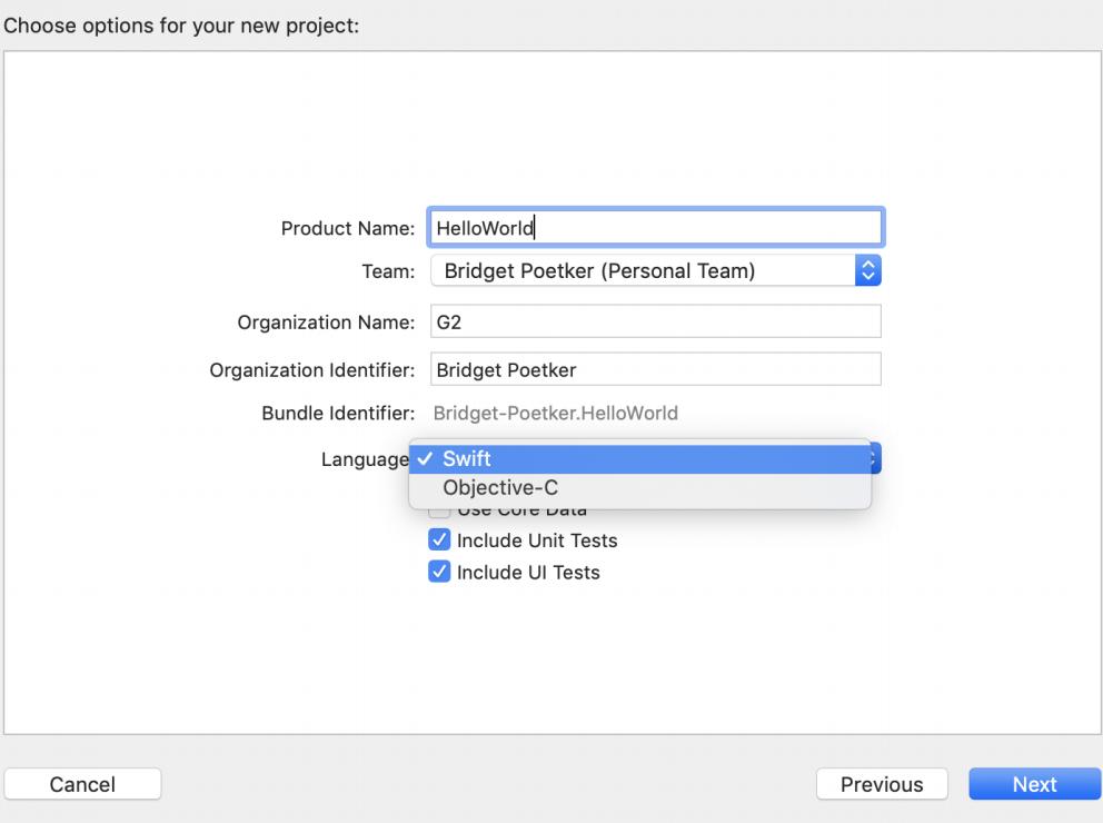 Swift programming in Xcode