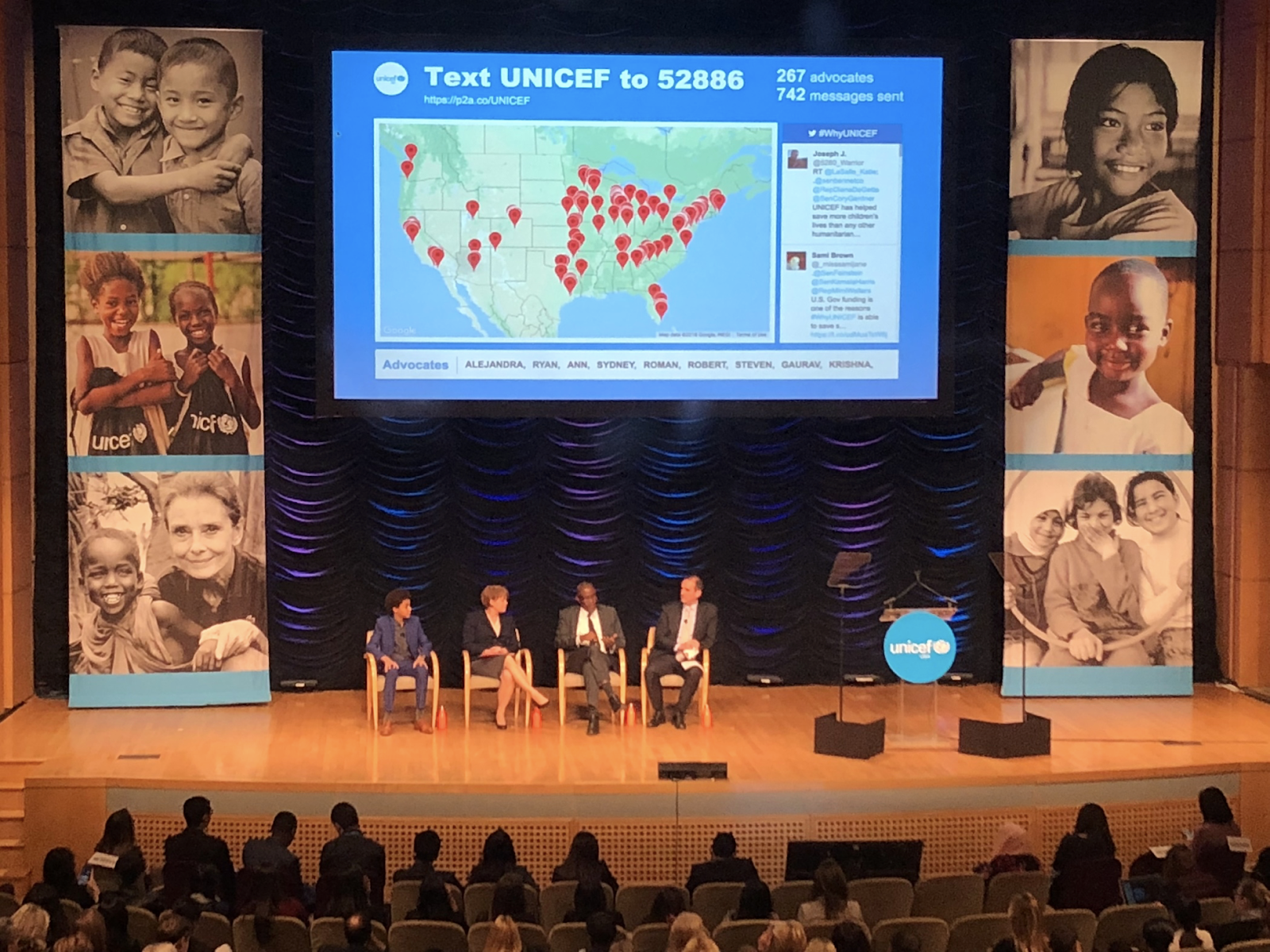 UNICEF map and conference