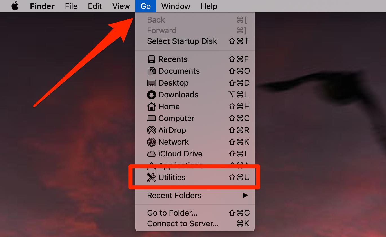 Utilities on Mac