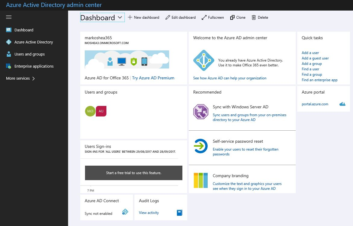 Microsoft Azure Active Directory,  a single sign-on or SSO software