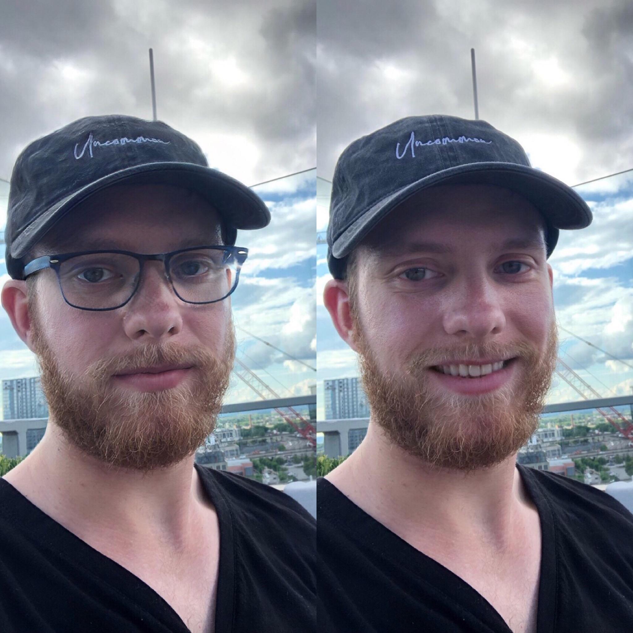 FaceApp smile filter