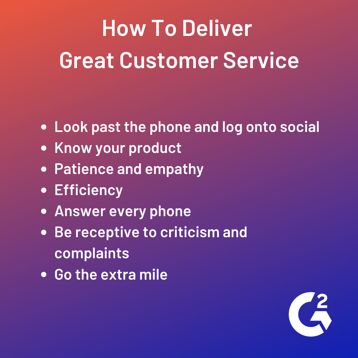 how to deliver great customer service