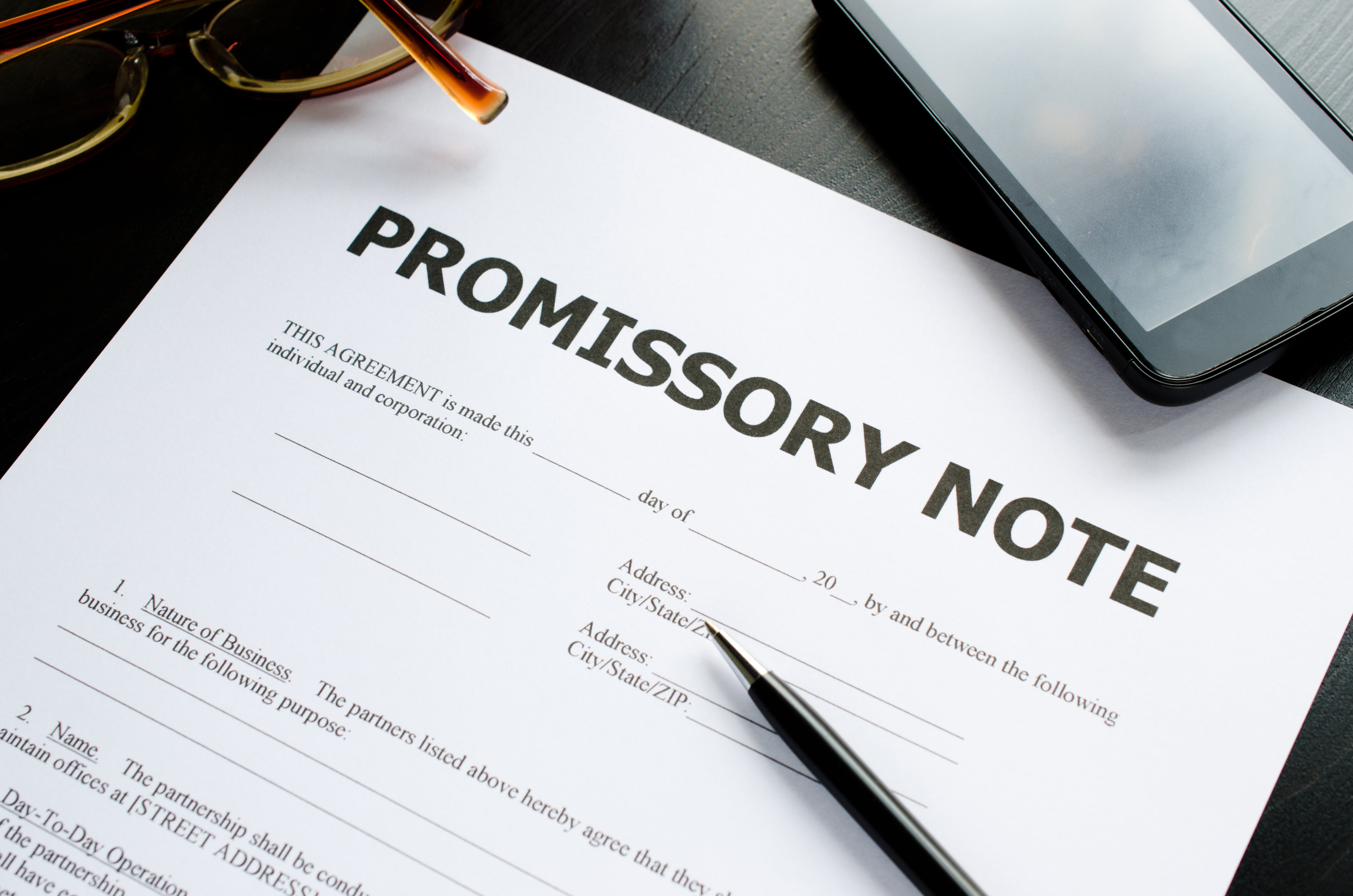how to craft a perfect promissory note   promissory note